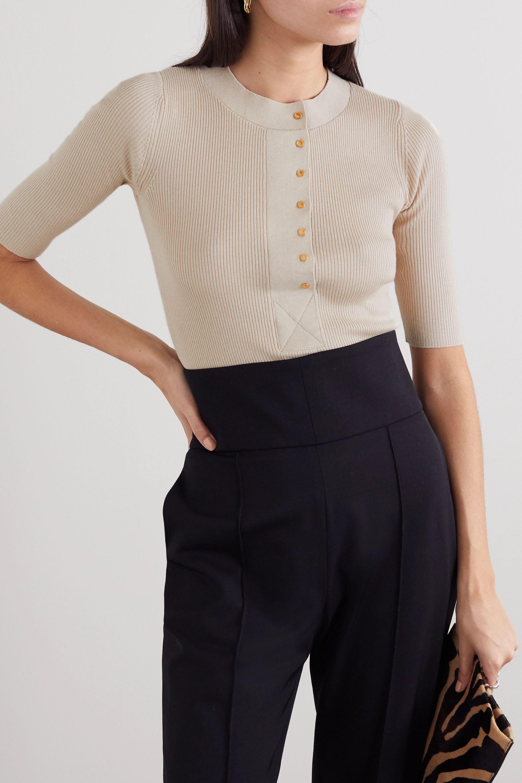 Proenza Schouler Ribbed silk-blend top