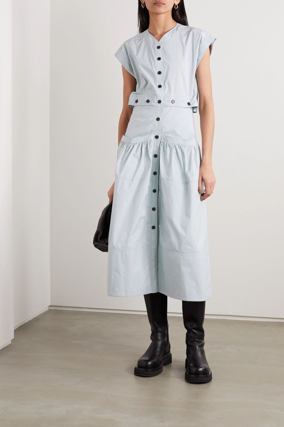 Proenza Schouler Cotton-poplin midi dress