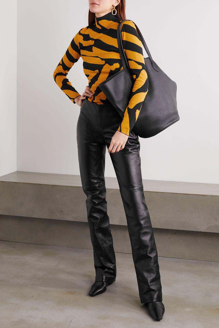 Proenza Schouler Stretch jacquard-knit turtleneck sweater