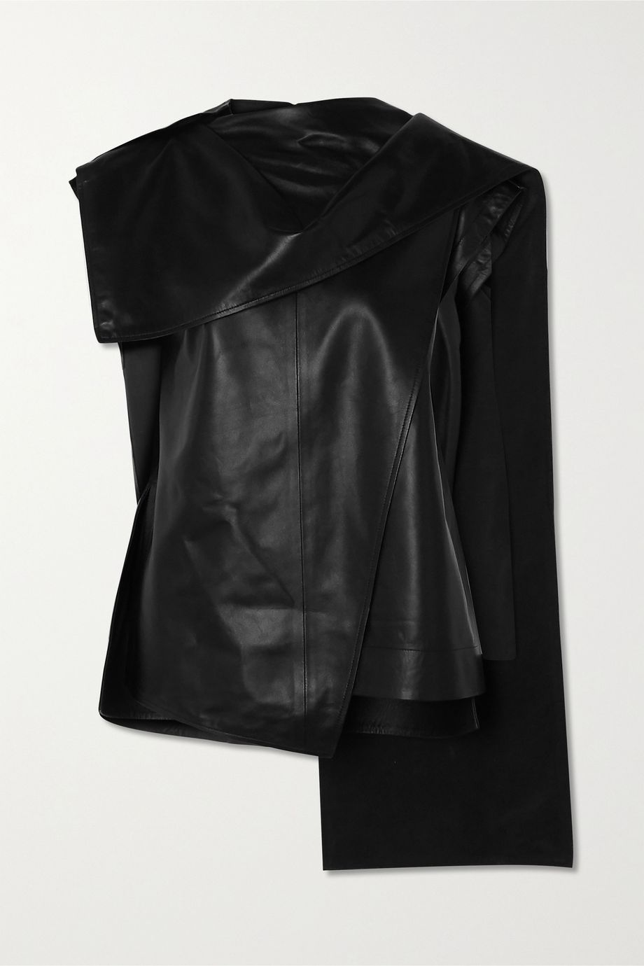 Proenza Schouler Draped leather top