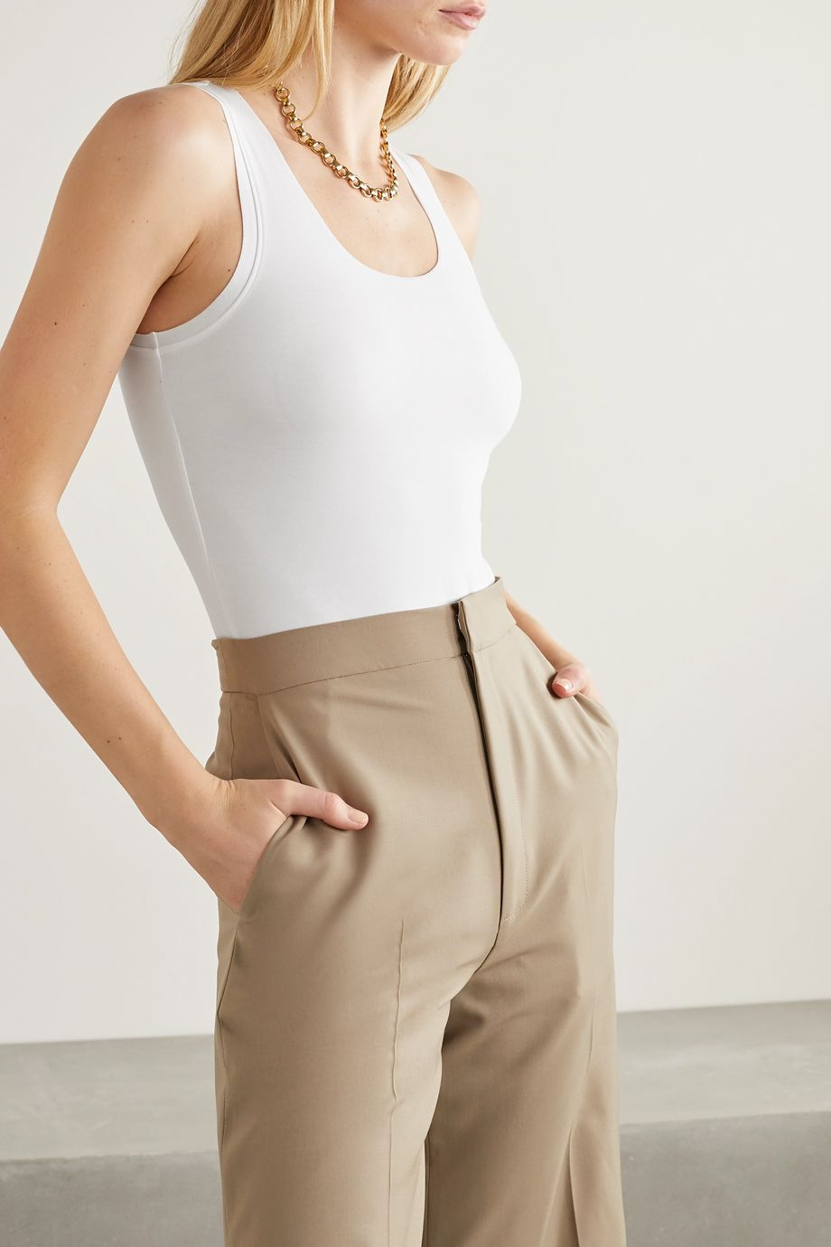 Commando Essential stretch-cotton jersey bodysuit