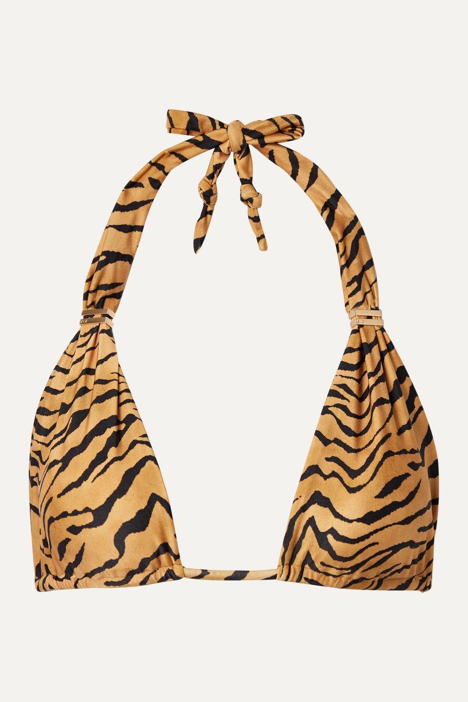 ViX Bia tiger-print triangle bikini top
