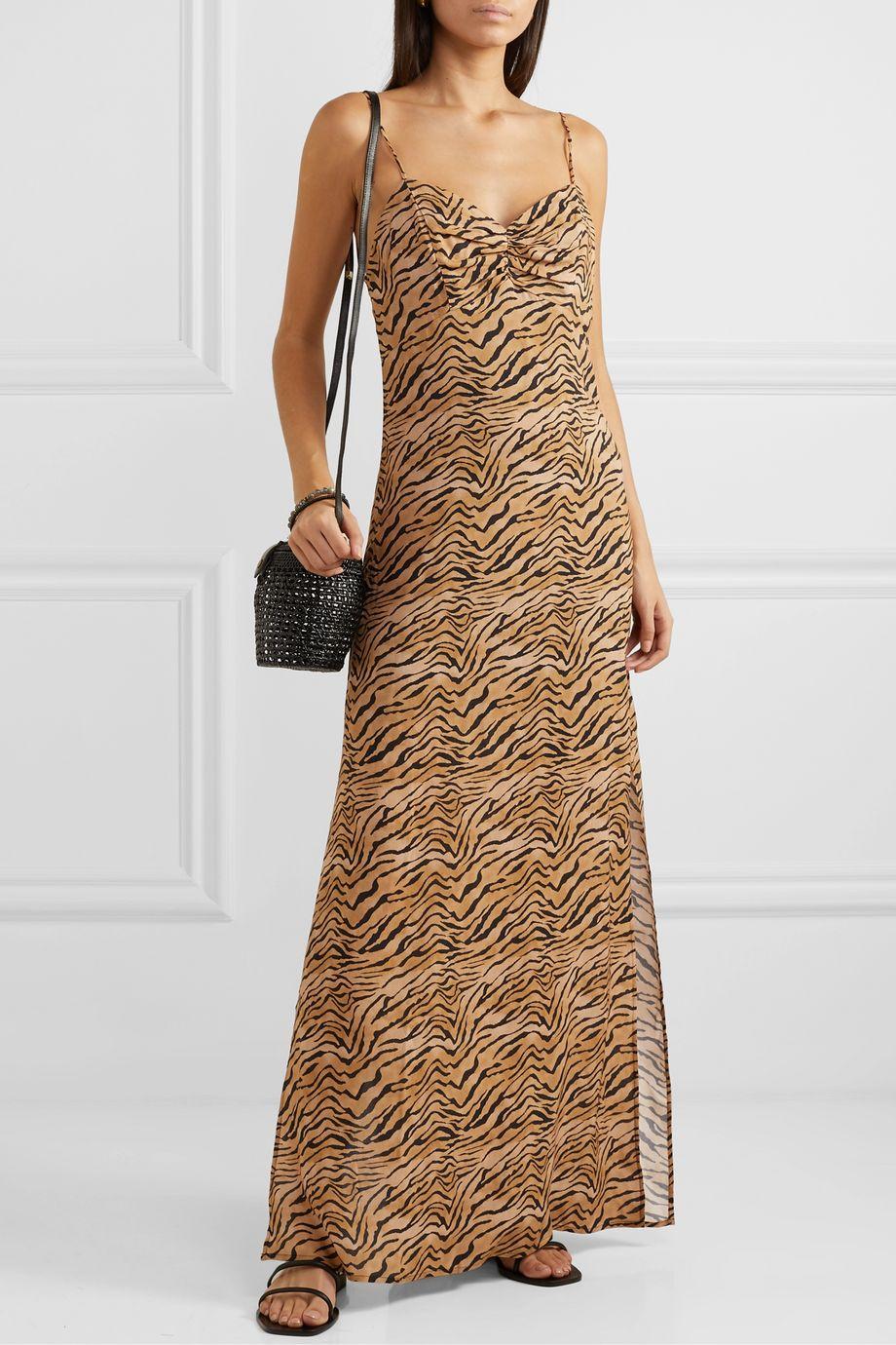 ViX Tiger-print voile maxi dress