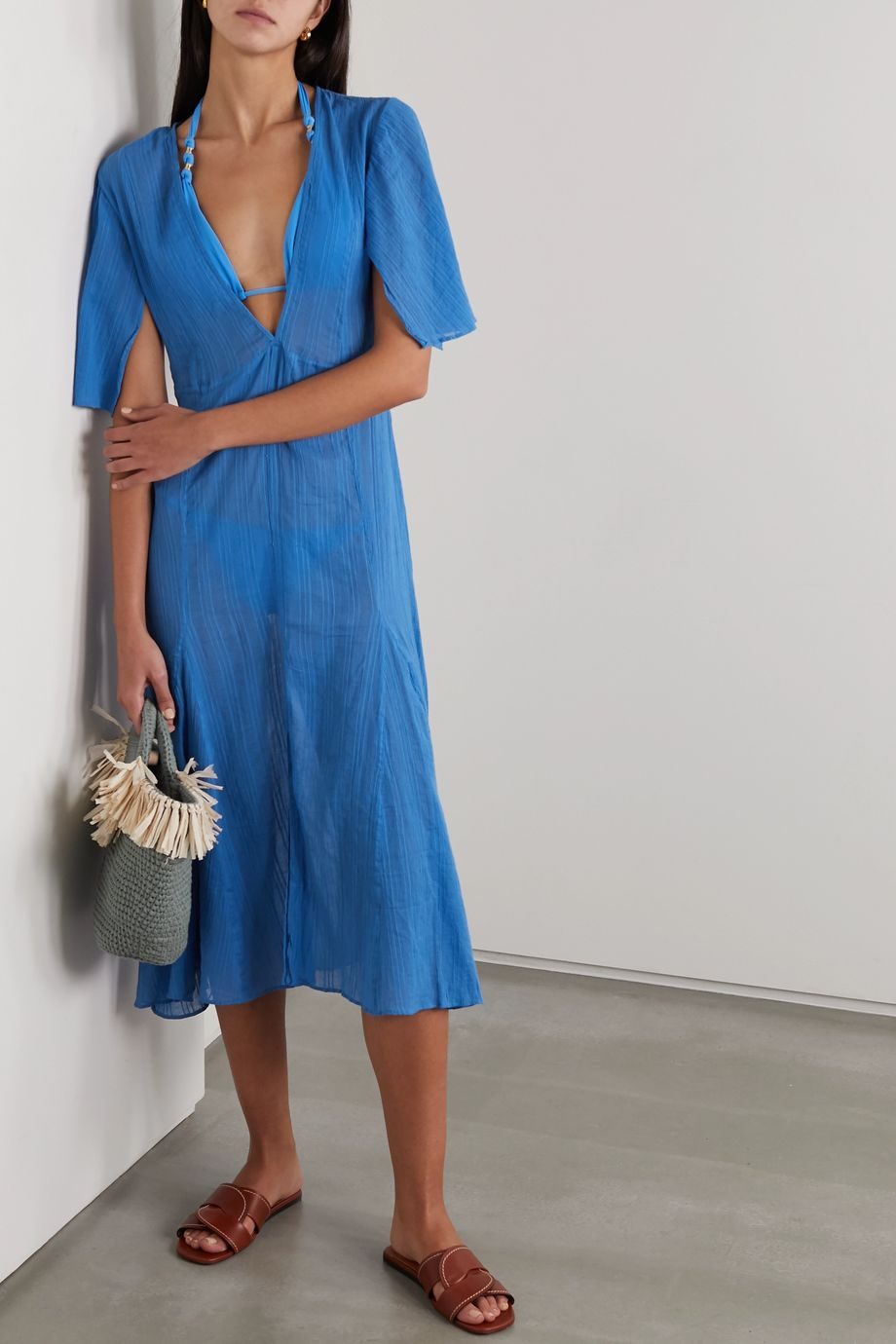 ViX Malia cotton-voile midi dress