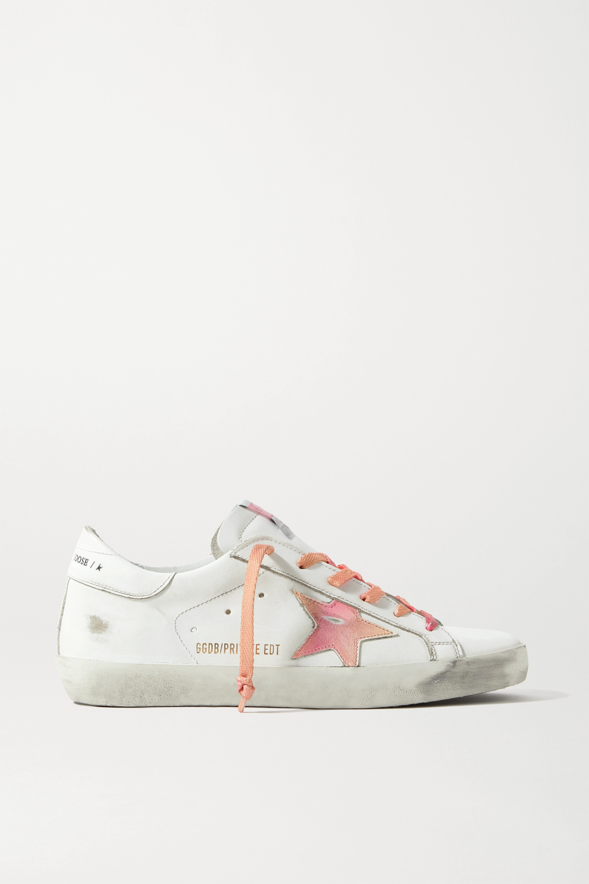 Golden Goose International Women's Day Superstar distressed printed leather sneakers