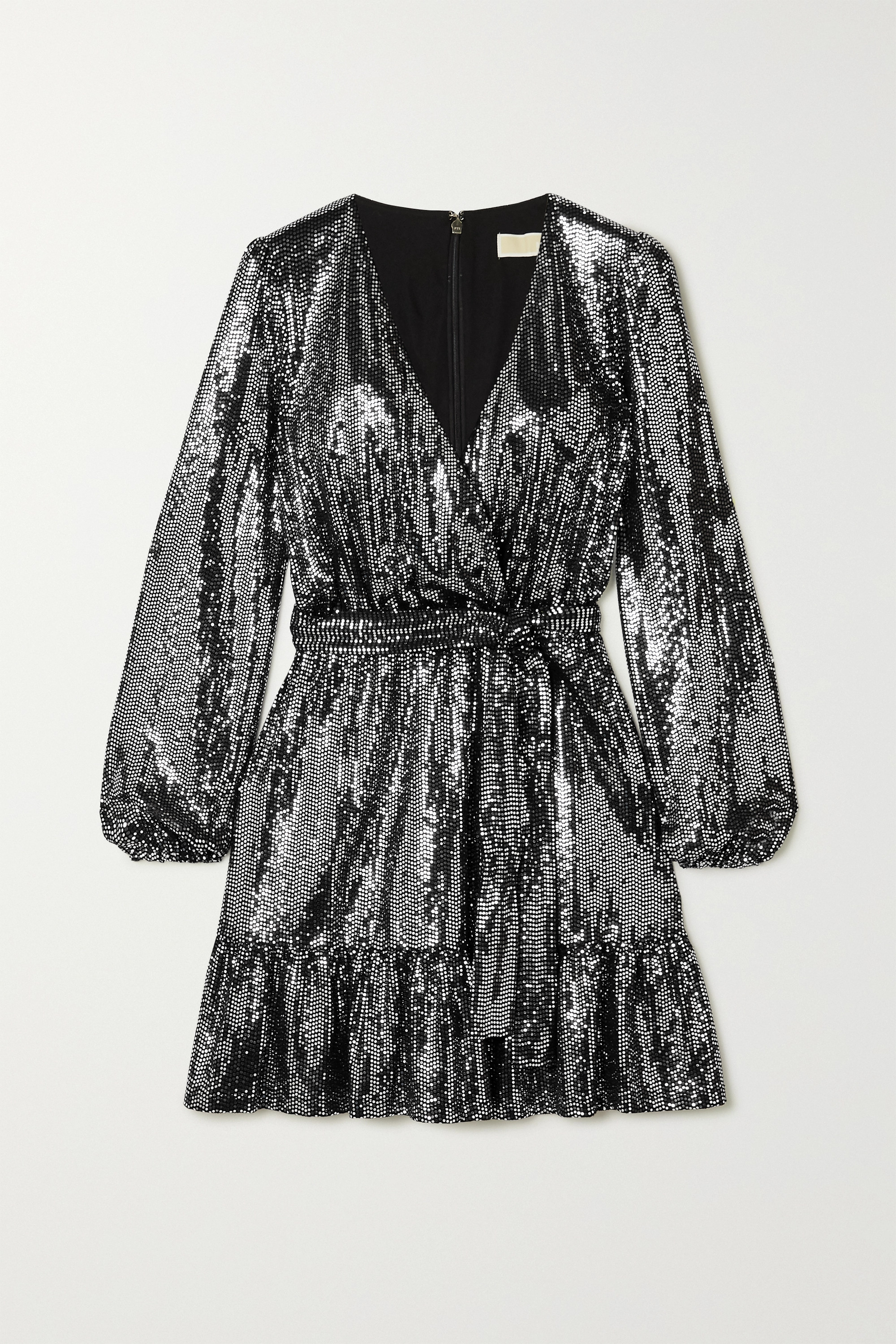 MICHAEL Michael Kors Wrap-effect sequined stretch-jersey dress