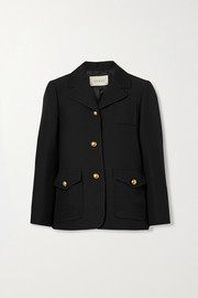 Gucci Embellished silk and wool-blend crepe jacket