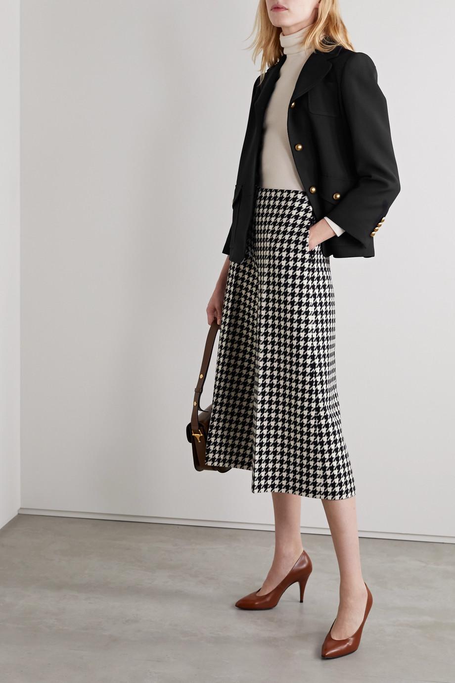 Gucci Embellished silk and wool-blend crepe jacket
