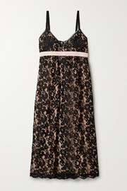 Gucci Jacquard-trimmed lace dress