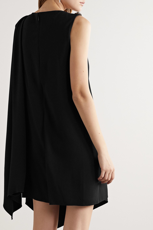 Gucci Embellished draped cady mini dress
