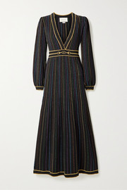Gucci Metallic intarsia wool-blend maxi dress
