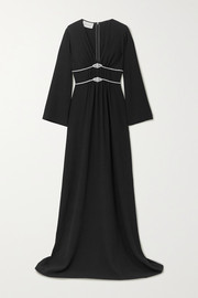 Gucci Crystal-embellished gathered crepe gown