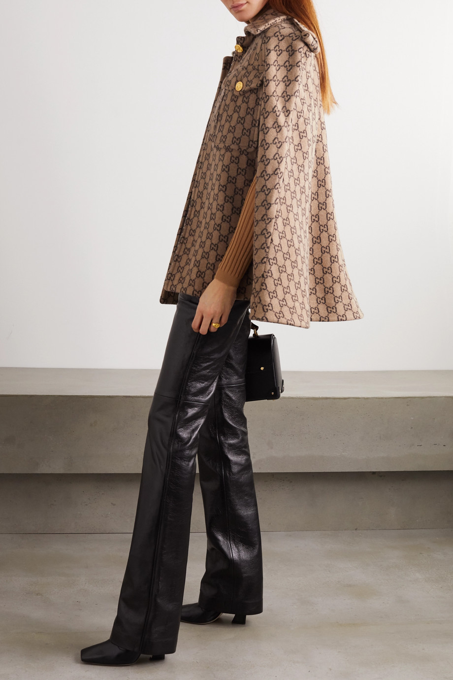 Gucci Wool-jacquard cape