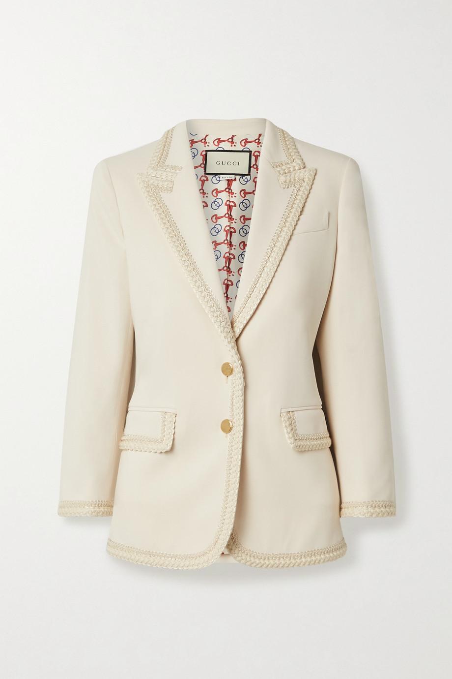 Gucci Appliquéd crepe blazer