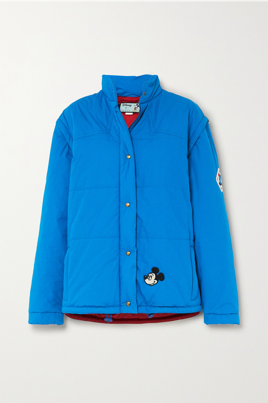 Gucci + Disney convertible appliquéd quilted tech-cotton jacket