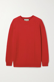 Gucci Oversized appliquéd cable-knit sweater