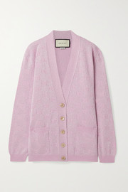 Gucci Metallic wool-blend jacquard cardigan