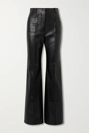 Gucci Paneled leather wide-leg pants