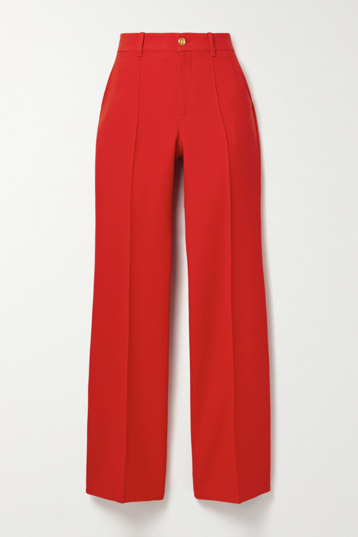 Gucci Pantalon large en soie et laine mélangées