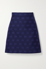 Gucci Wool and silk-blend jacquard mini skirt