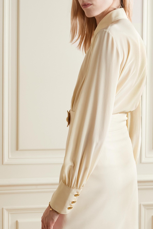 Gucci + NET SUSTAIN organic silk crepe de chine shirt