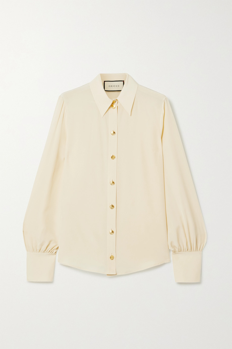 Gucci + NET SUSTAIN organic silk crepe de chine shirt