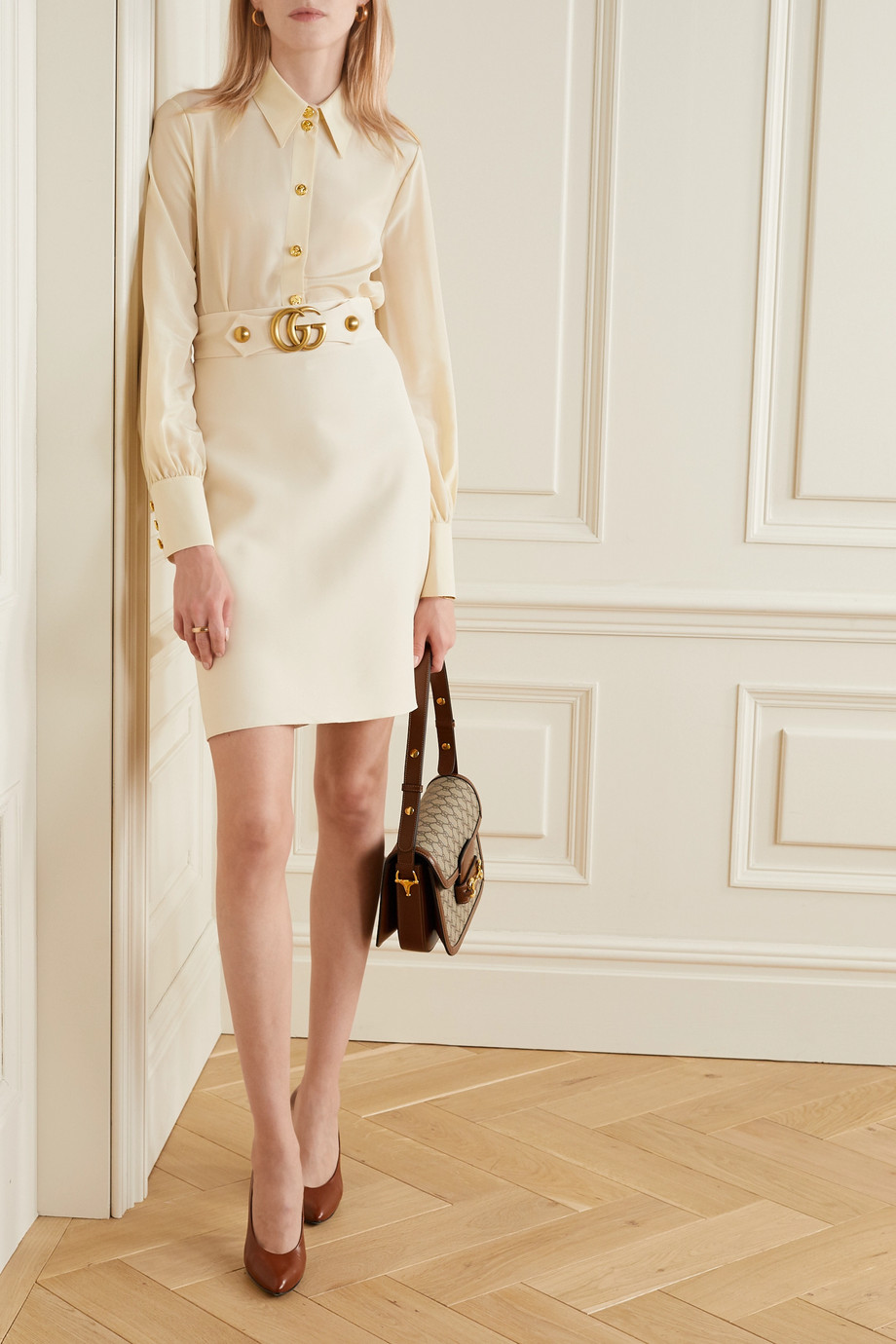 Gucci + NET SUSTAIN Hemd aus Crêpe de Chine aus Bioseide