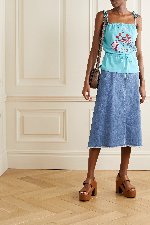 Gucci + Disney printed cotton-jersey camisole