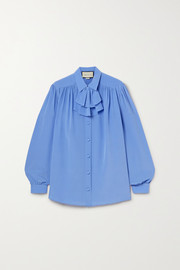 Gucci Ruffled silk crepe de chine shirt