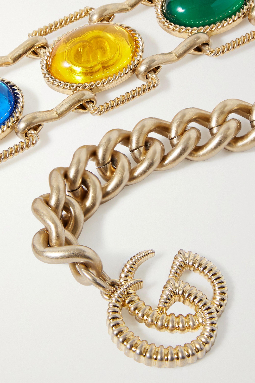 Gucci Gold-tone crystal belt
