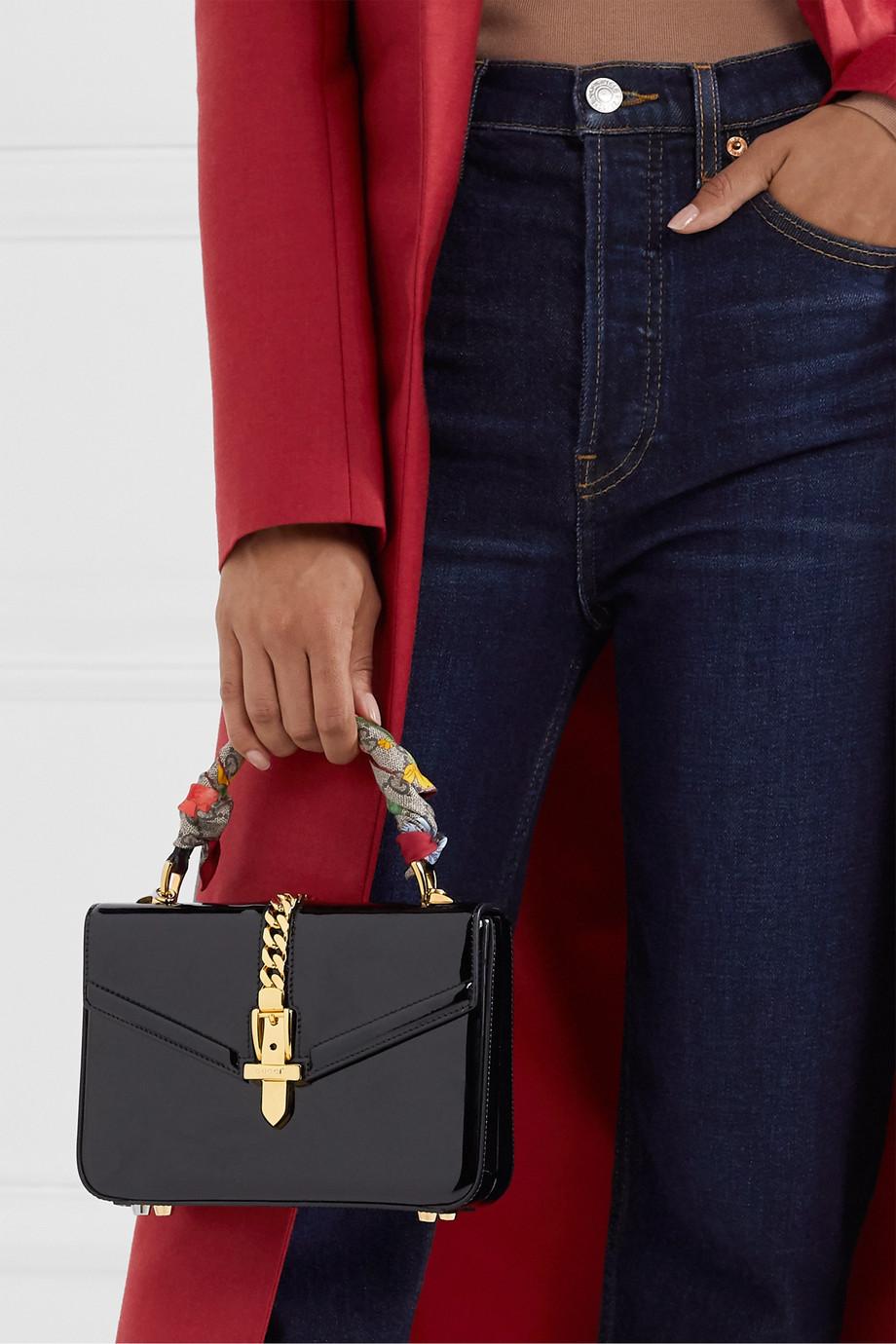 Gucci Tuch aus Seiden-Twill mit Print