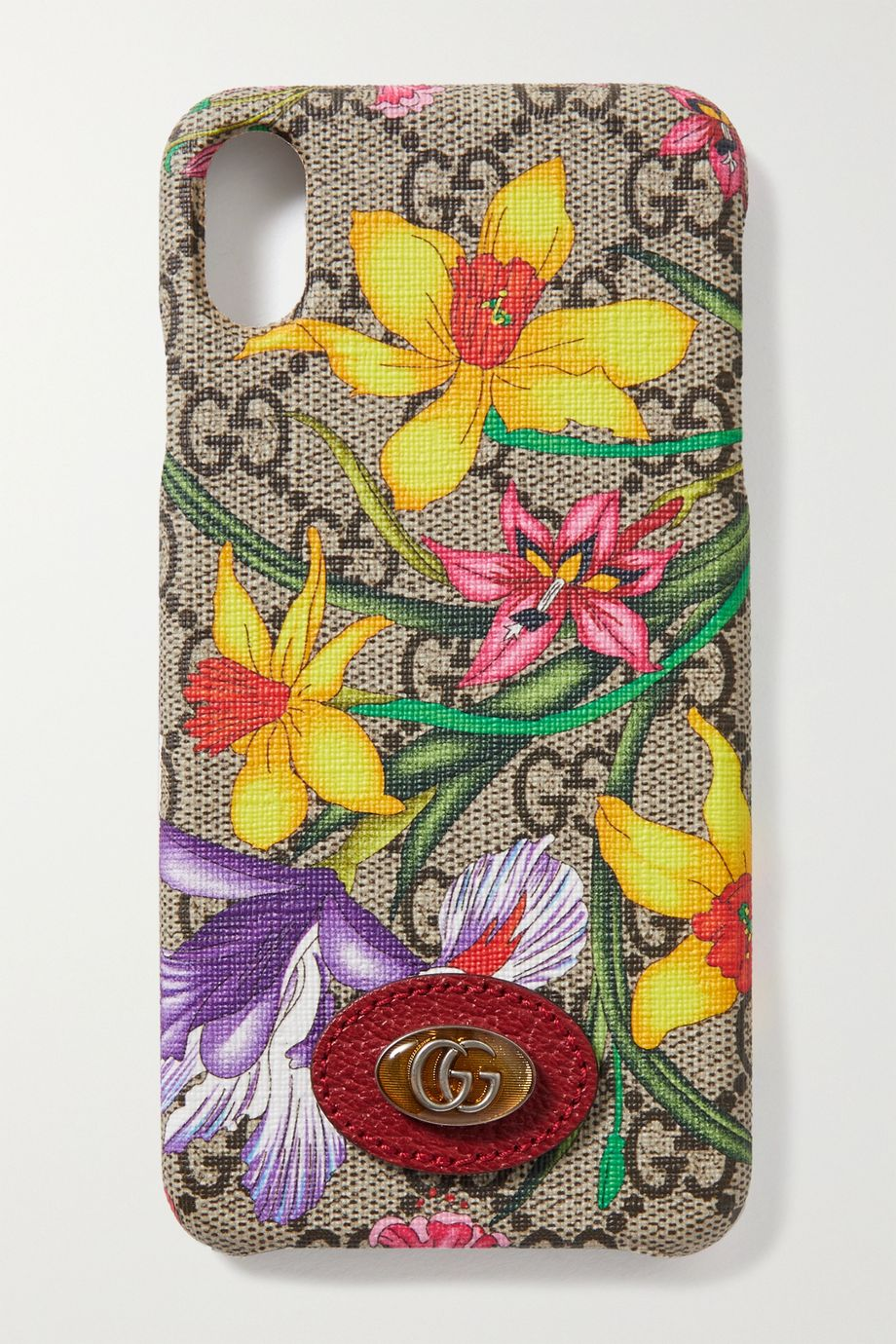 Gucci Ophidia textured leather-trimmed printed coated-canvas iPhone XS Max case