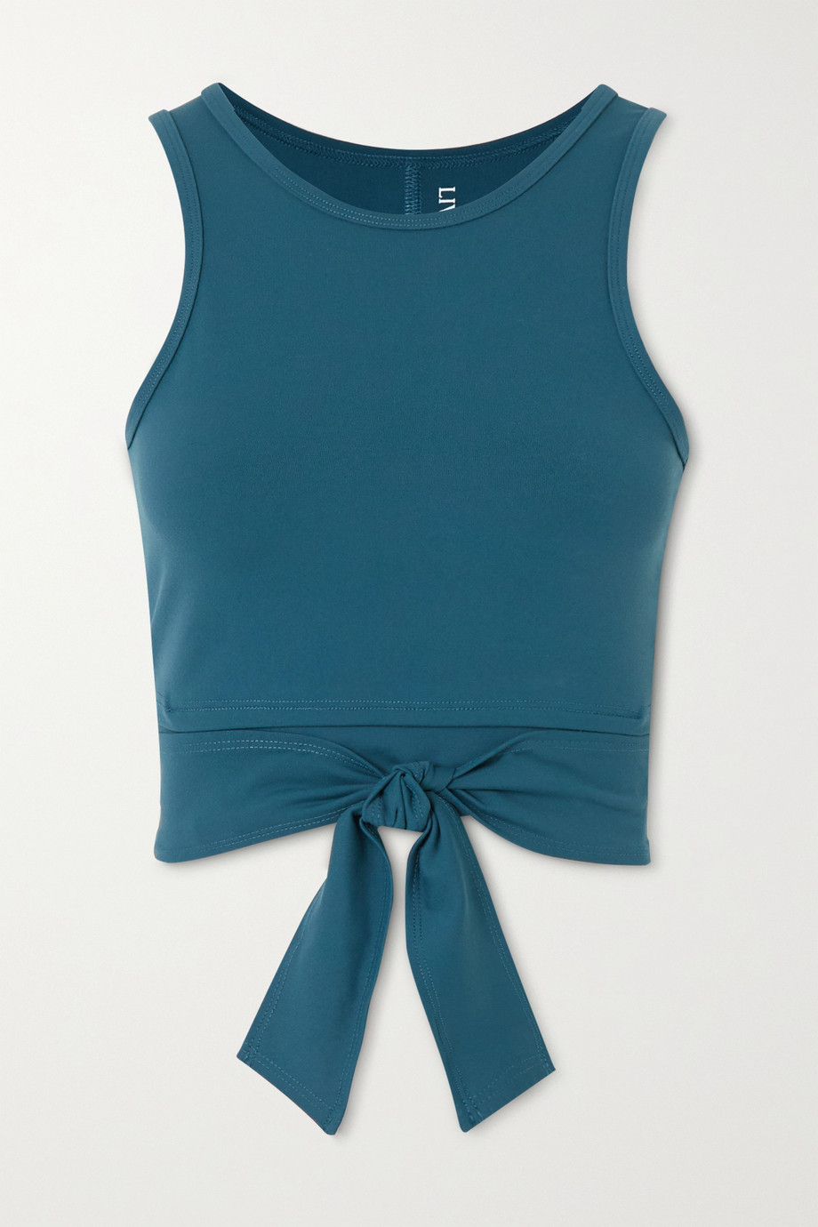 Live The Process Ballet cropped tie-detailed stretch-Supplex top