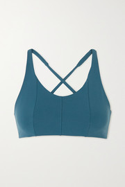 Live The Process Corset Grid stretch-Supplex sports bra
