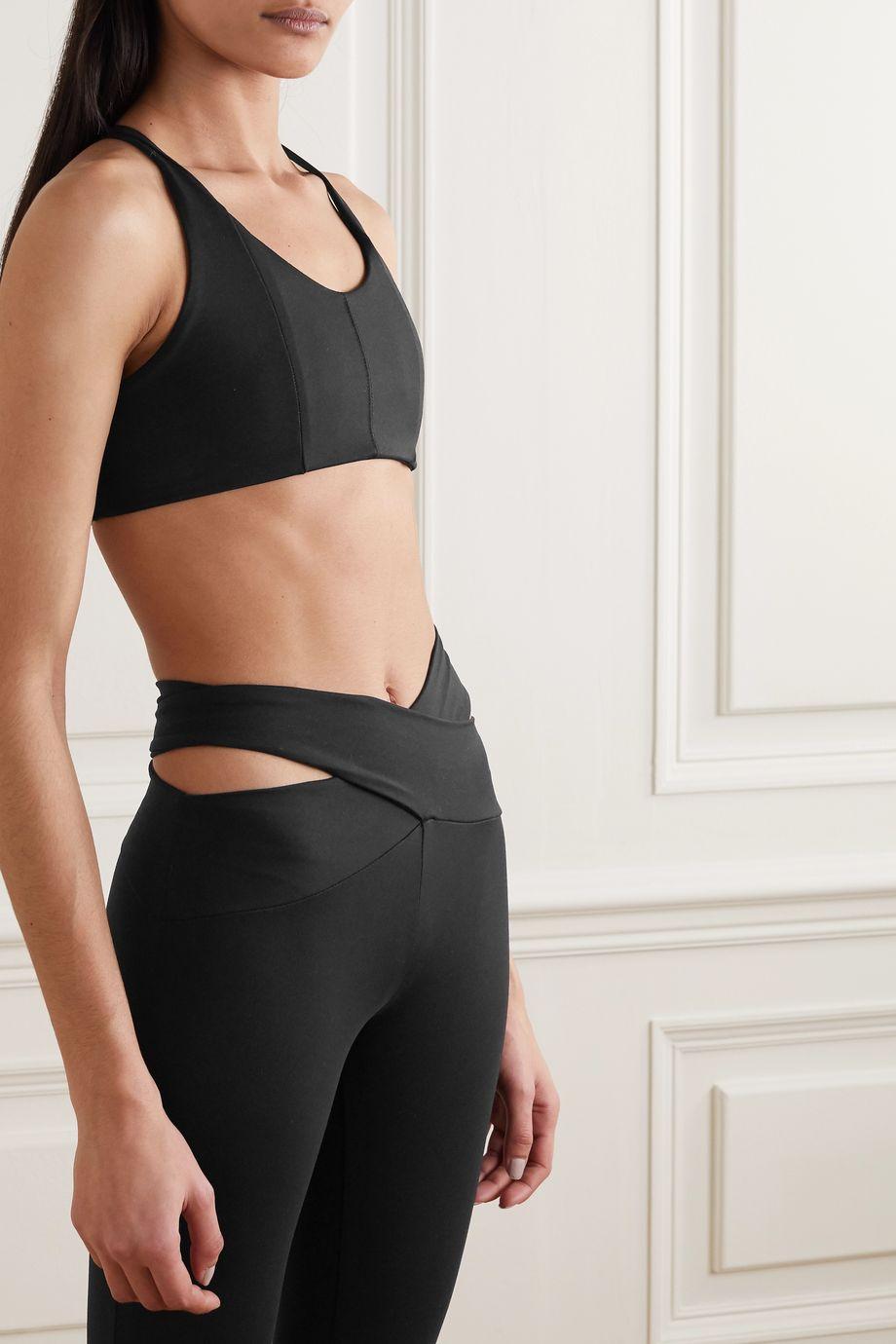 Live The Process Corset Grid stretch-Supplex sports bra
