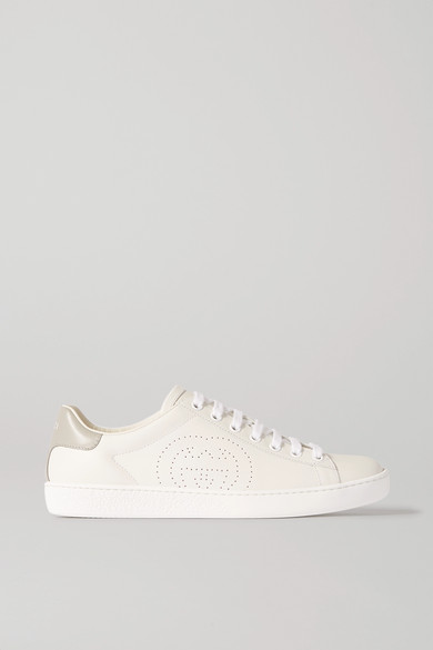 Ace Leather Sneakers by Gucci