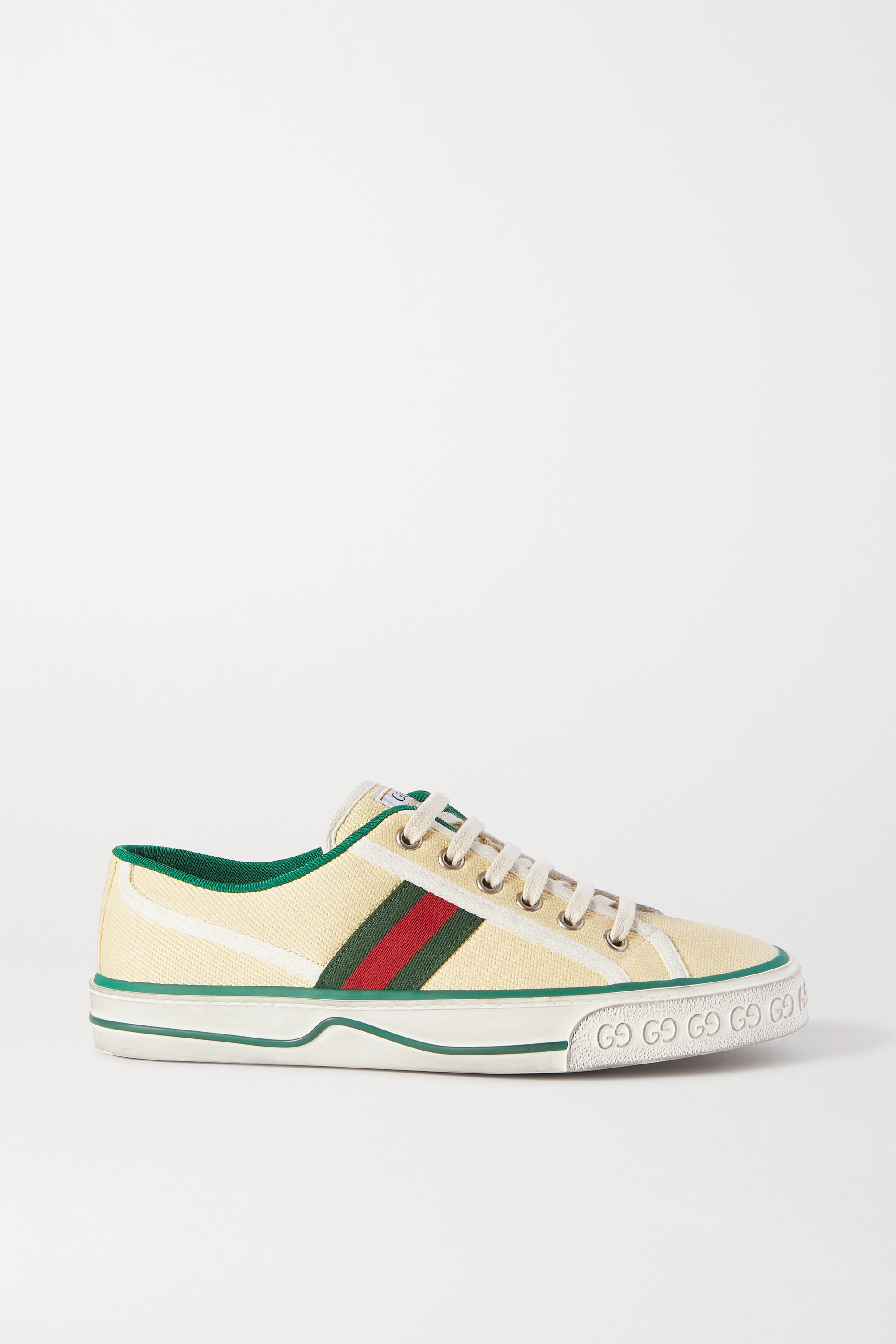 Gucci Webbing-trimmed canvas sneakers
