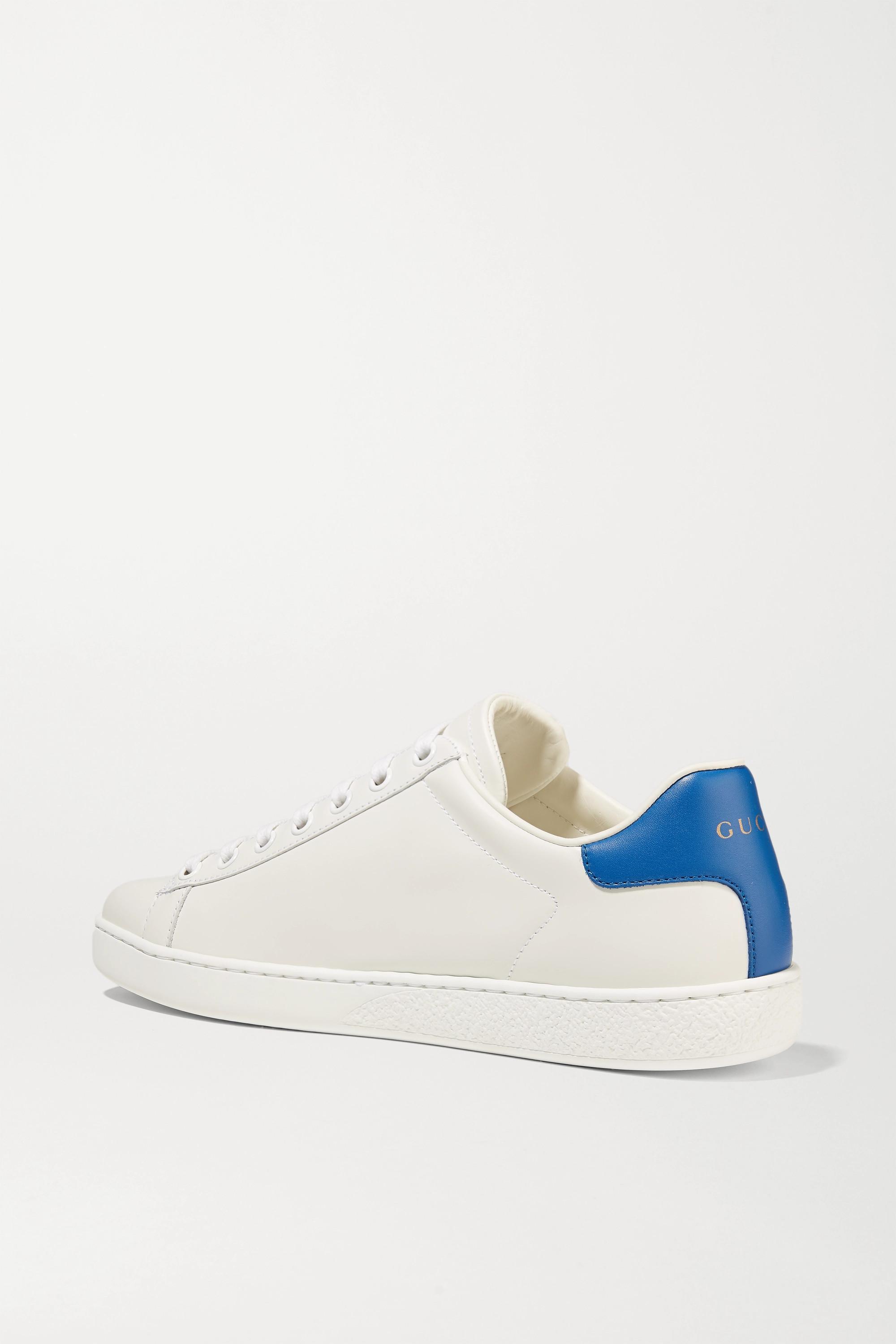 Gucci Ace 刺绣皮革运动鞋