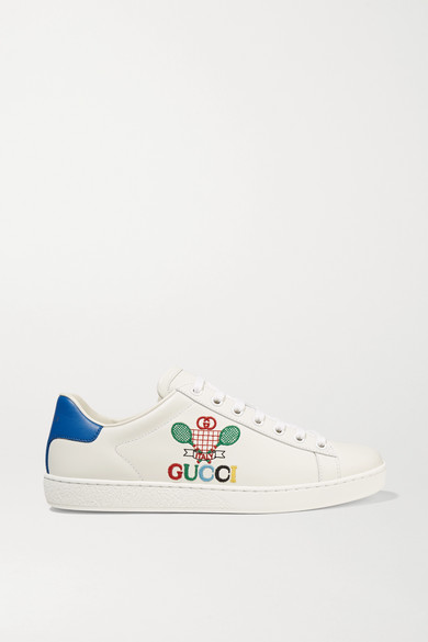 ace-embroidered-leather-sneakers by gucci