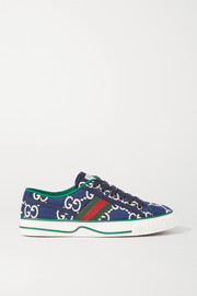 Tennis 1977 logo-embroidered canvas sneakers