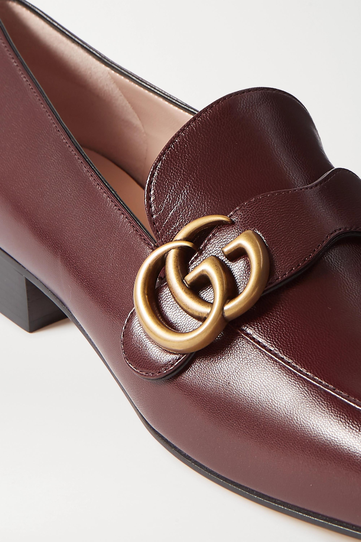 Gucci Marmont Loafers aus Leder mit Logoverzierung