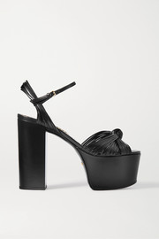 Gucci Crawford knotted leather platform sandals