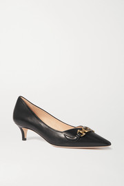 Gucci Zumi logo-embellished leather pumps