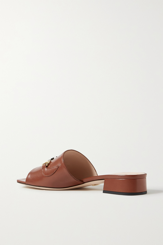 Gucci Zumi 带缀饰皮革穆勒鞋