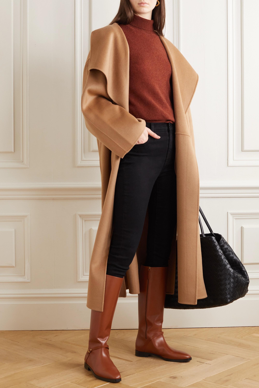 Gucci Rosie kniehohe Stiefel aus Leder mit Logoverzierung
