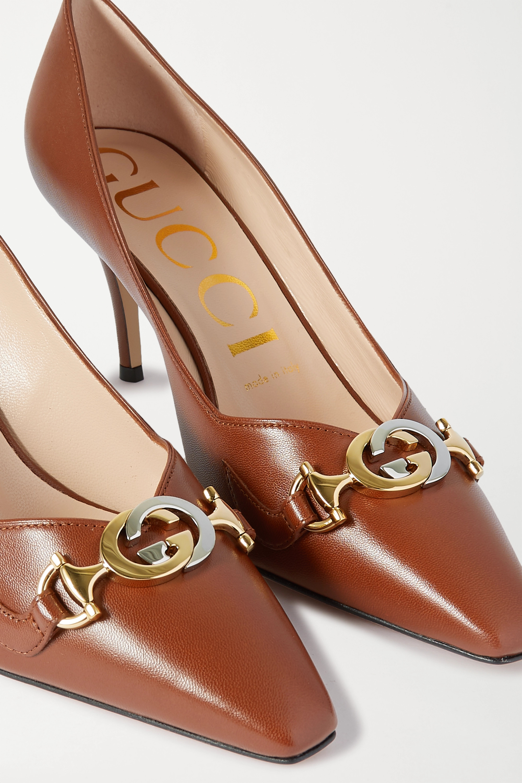 Gucci Zumi embellished leather pumps