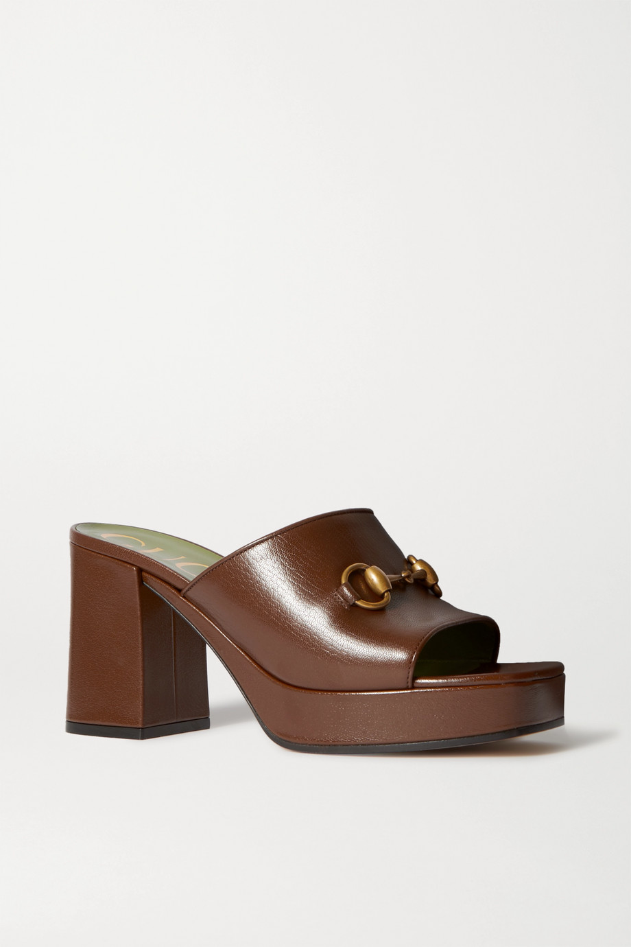 Gucci Houdan horsebit-detailed leather platform mules