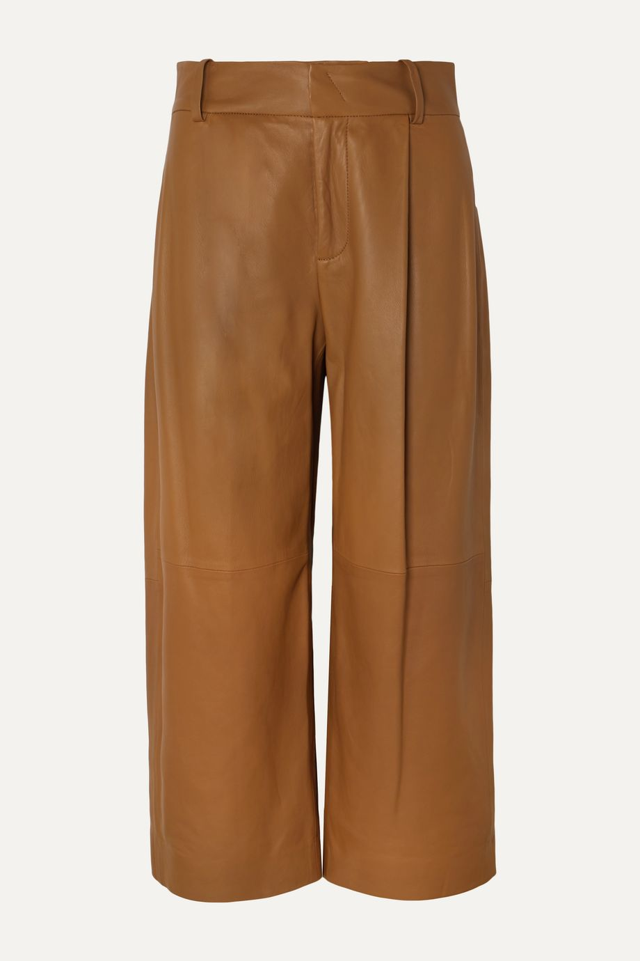 Vince Cropped leather wide-leg pants