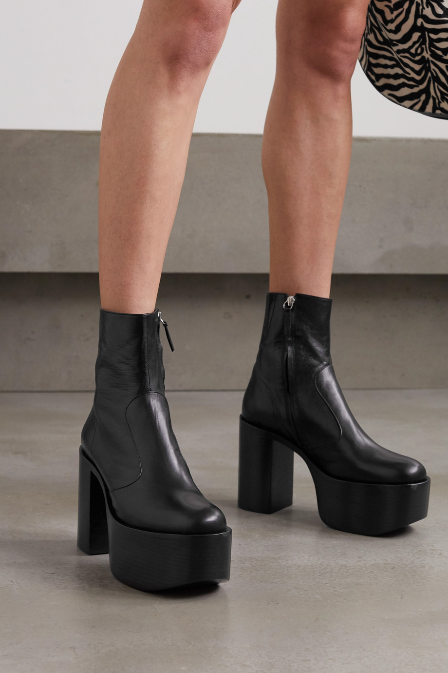 SIMON MILLER High Raid leather platform ankle boots