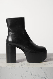 High Raid leather platform ankle boots